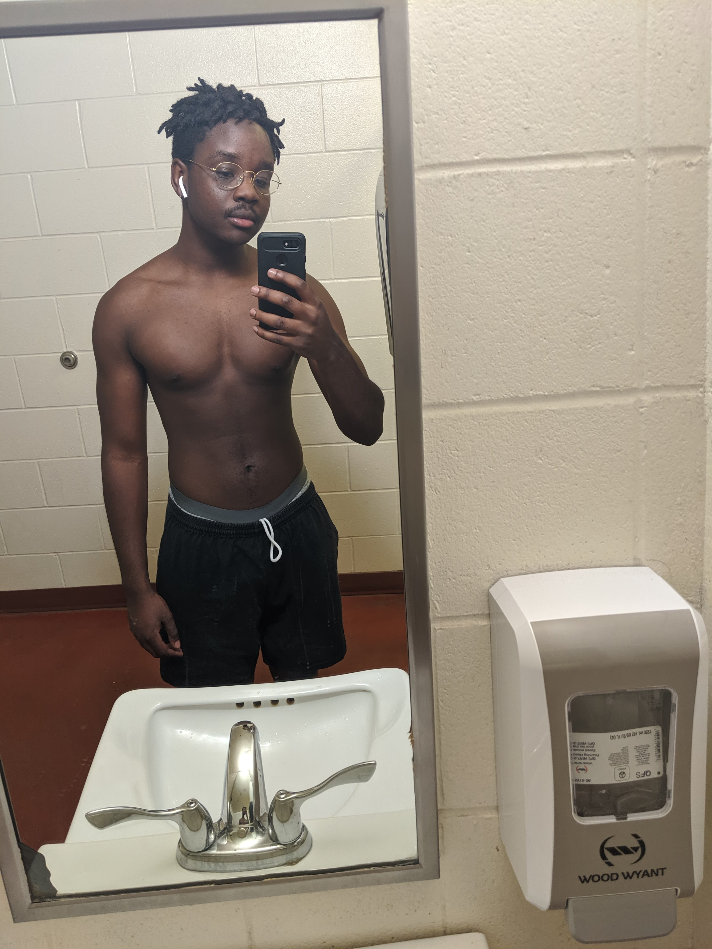 Mirror picture showing cut progress